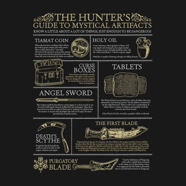 THE HUNTERS GUIDE TO MYSTICAL ARTIFACTS (ALT VERSION)