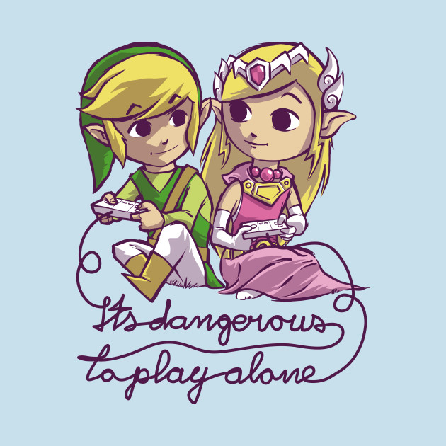 It's dangerous to play alone Blue T-Shirt