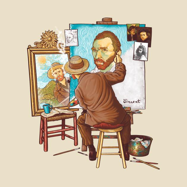 Van Gogh Triple Self Portrait