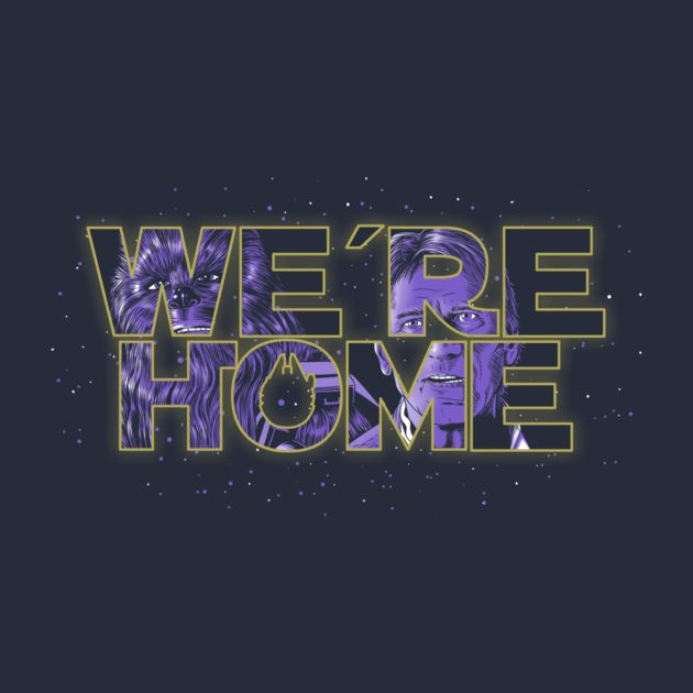 We're Home Typography
