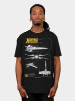 Resistance X-Wing Schematic T-Shirt