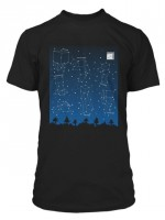 Minecraft Constellations Glow in the Dark T-Shirt