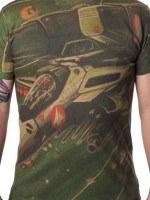 Robotech Sublimation Space Battle T-Shirt