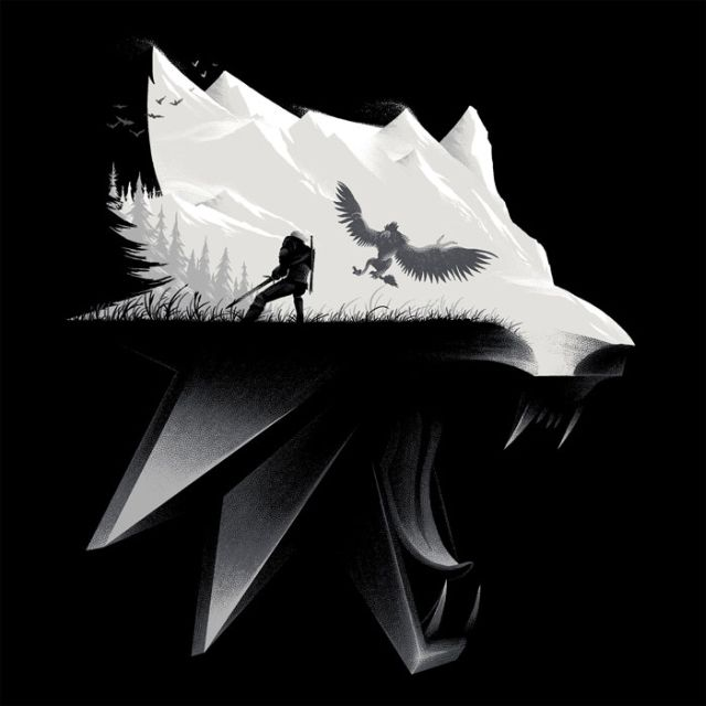 The Witcher 3 Wolf Silhouette