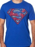 Distressed Superman Symbol T-Shirt