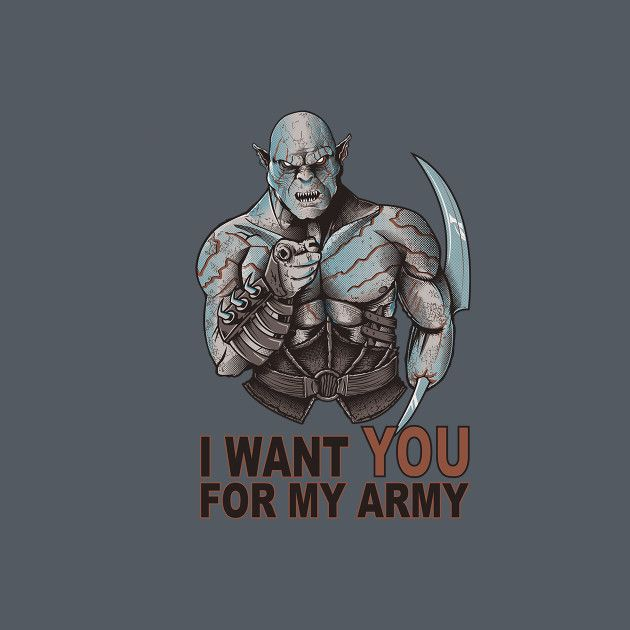 I WANT YOU FOR MY ARMY
