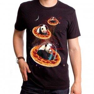 Invader Pandas On Pizza