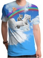 Koala Unicorn Pizza Kite T-Shirt