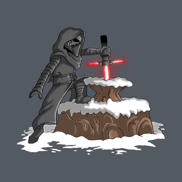 THE LIGHTSABER IN THE STONE