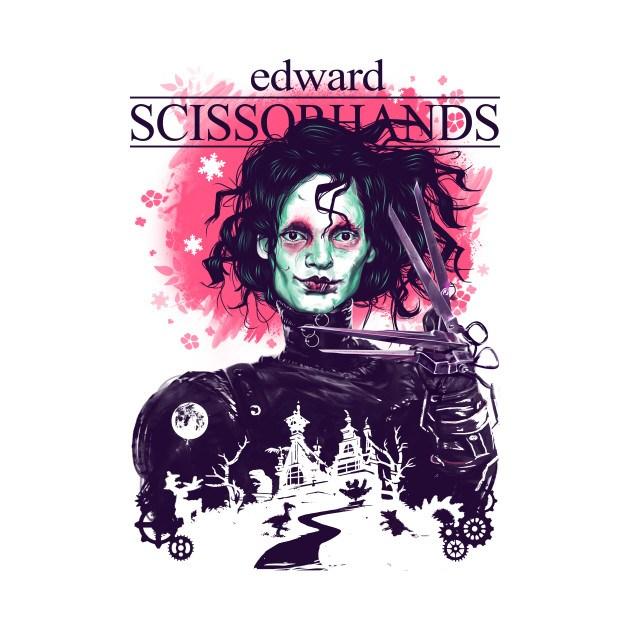 EDWARD SCISSORHANDS AND HIS GARDEN