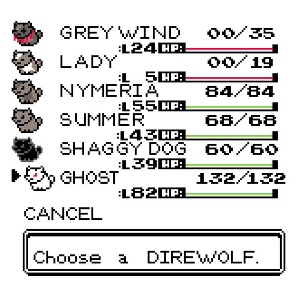 Choose a Direwolf -Spoiler version-