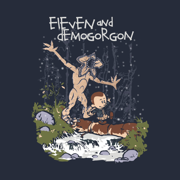 Eleven and Demogorgon