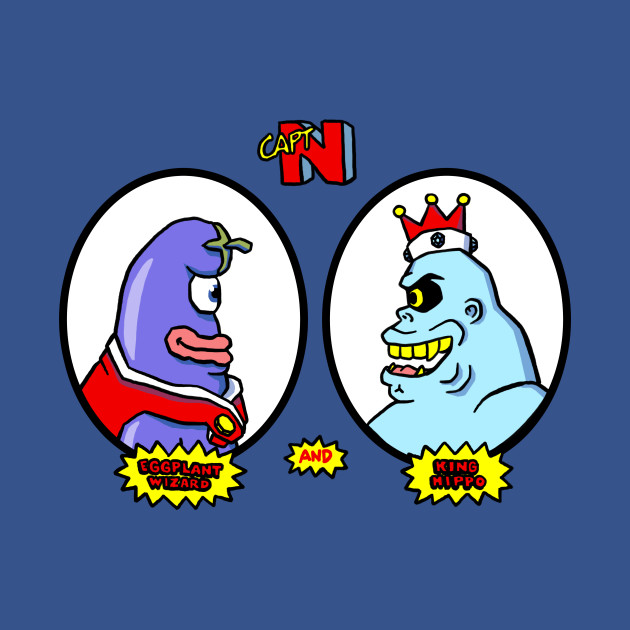 Eggplant Wizard and King Hippo