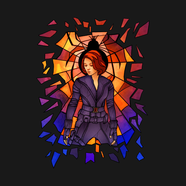 Widow Stained Glass