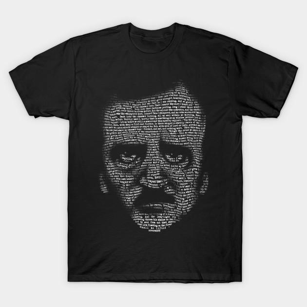 Edgar Allan Poe Nevermore Text Portrait