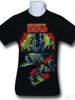 Walking Dead Walkers on Black T-Shirt