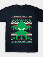 Cthulhu Cultist Christmas - Cthulhu Christmas Sweater - Ugly Sweater T-Shirt