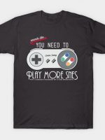 Evolve Today! Play More SNES T-Shirt