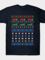 Frogs, Logs & Automobiles - Arcade Christmas Ugly Sweater T-Shirt