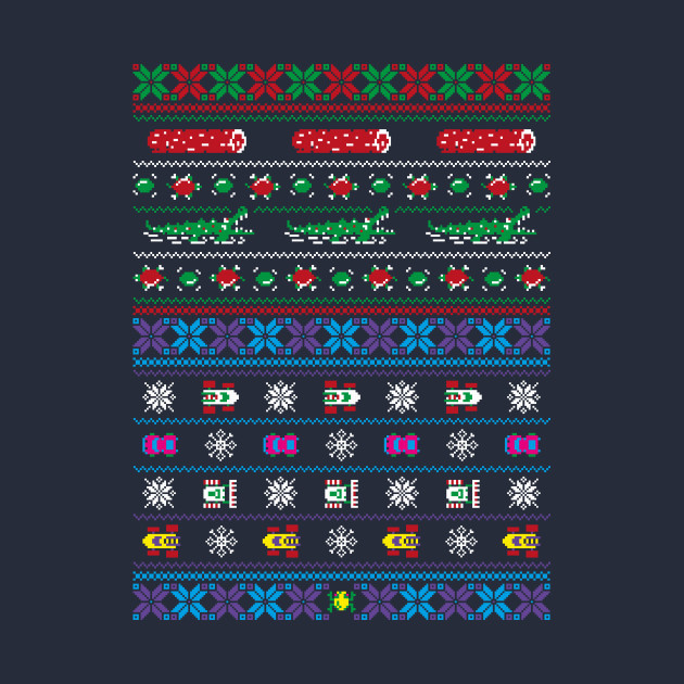 Frogs, Logs & Automobiles - Arcade Christmas Ugly Sweater