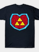 Hyrule Heart Container - Polygon Stainglass Collection T-Shirt