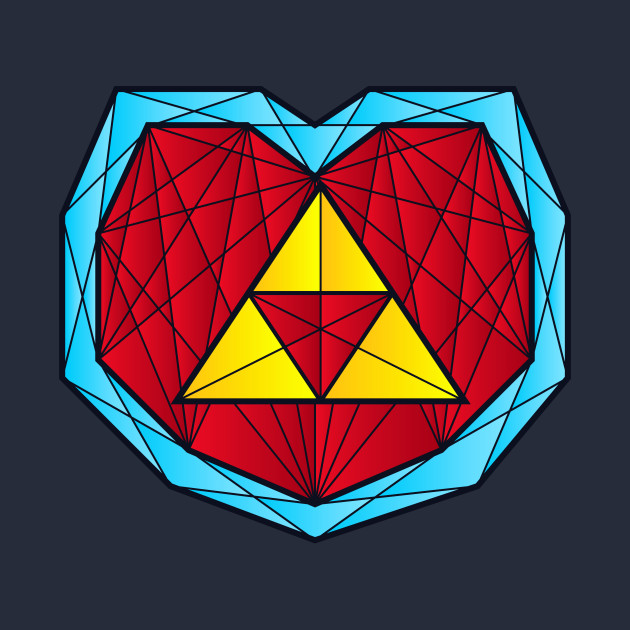 Hyrule Heart Container - Polygon Stainglass Collection