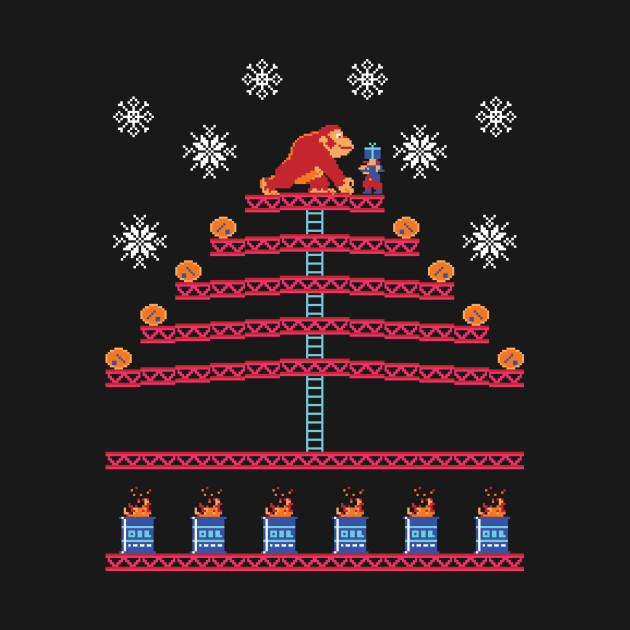 Kongmas Tree - DK Jumpman Ugly Sweater