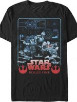 Star Wars Rogue One Blueprint T-Shirt
