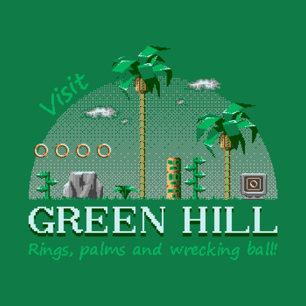 Green Hill Sonic The Hedgehog T Shirt The Shirt List