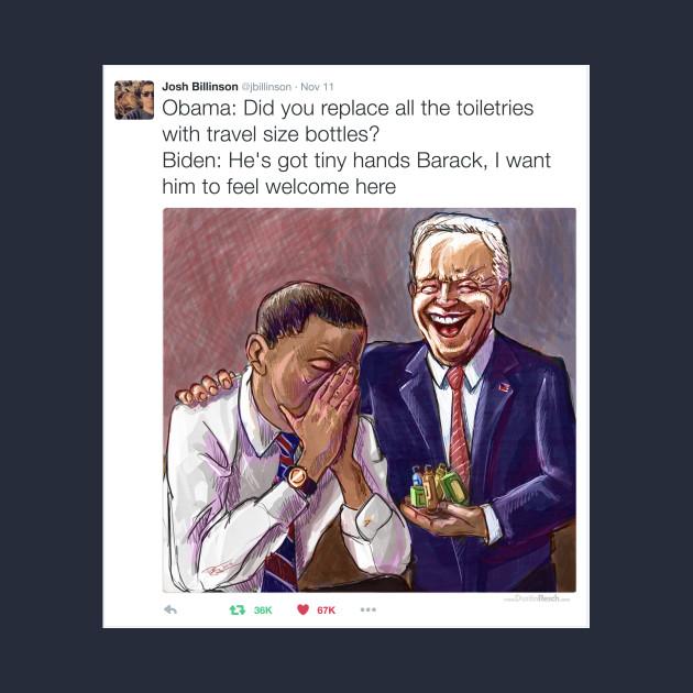 Biden's Tiny Toiletries Emporium