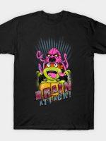 TMNT Ninja Turtles Michelangelo Krang Brain Attach T-Shirt