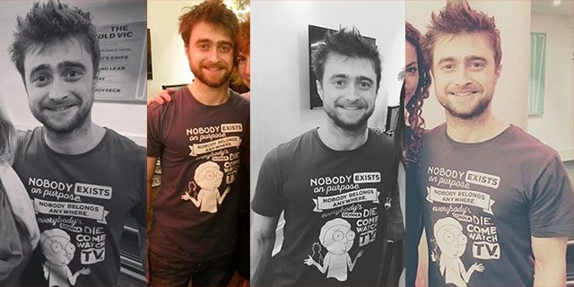 Daniel Radcliffe Wearing Rick and Morty T-Shirt