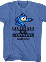 Running And Gunning Mega Man T-Shirt