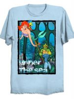 TMNT Michelangelo Ninja turtles Ariel Little Mermaid under the sea T-Shirt