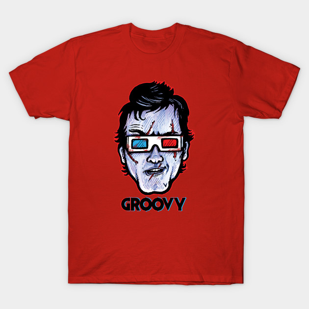 Groovy 3D... Evil Dead Ash Williams Wearing 3D Glasses