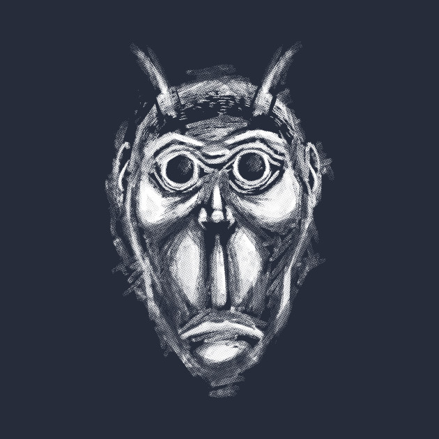 Cockroach humanoid (white ink)