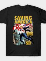 President Donald Trump Saving America Comic T-Shirt