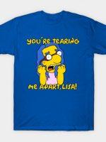 Milhouse Wiseau Tearing me apart, Lisa T-Shirt