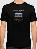 Superhero Mix Tapes - Captain America T-Shirt
