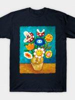Mario Van Gogh's Flowers T-Shirt