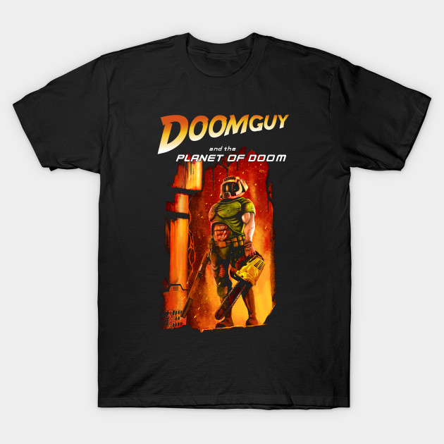 Doomguy in the planet of doom