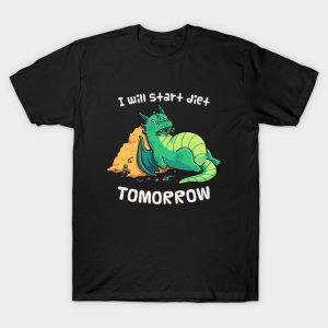 Procrastination Dragon - I Will Start Diet Tomorrow