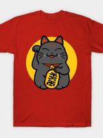 Maneki-neko - lucky black cat T-Shirt