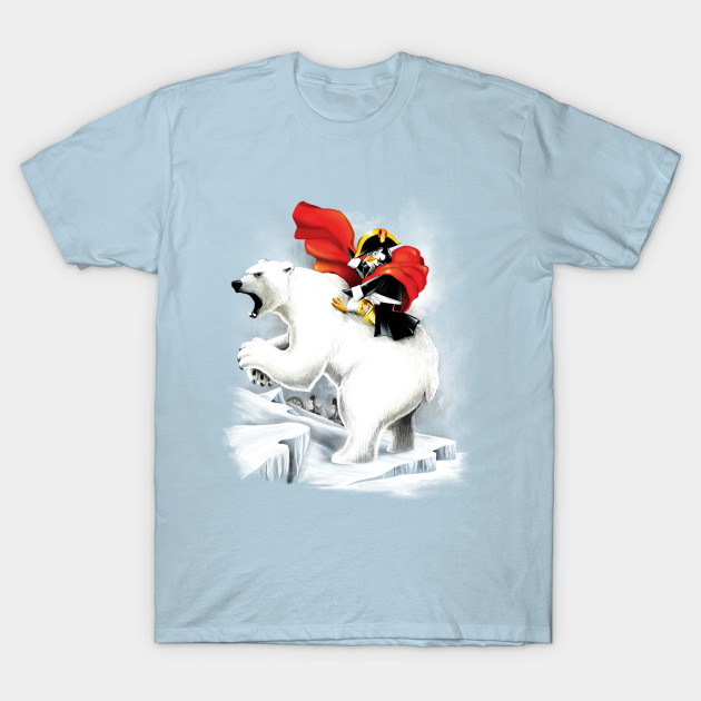 Penguin crossing the North Pole