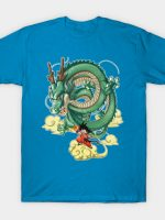 Son Goku and dragon Shenron T-Shirt