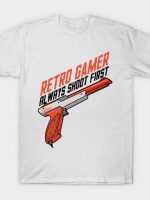 retro gamer always shoot first T-Shirt
