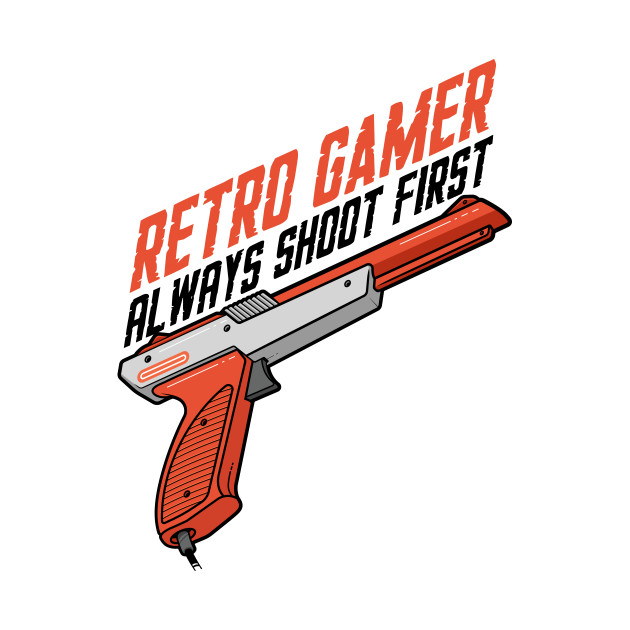 retro gamer always shoot first