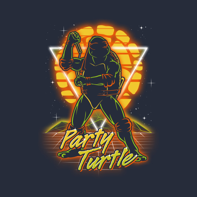 Retro Party Turtle