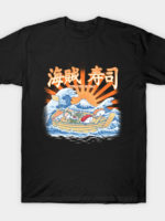 pirates sushi off kanagawa T-Shirt