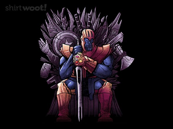 Thanos on Iron Throne